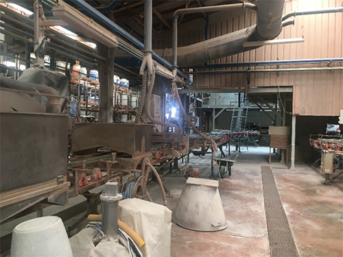 part of the factory where our porcelain tiles are produces in Valencia